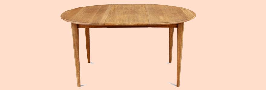 table ronde extensible en bois massif